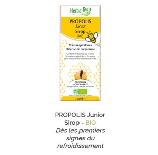 Herbalgem - PROPOLIS Junior Sirop - BIO - 150 ml