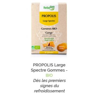 Herbalgem - PROPOLIS Large Spectre Gommes - BIO - 24 gommes