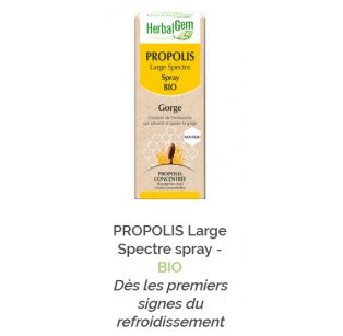 Herbalgem - PROPOLIS Large Spectre spray - BIO - 30 ml