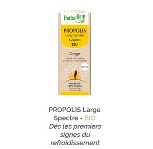 Herbalgem - PROPOLIS Large Spectre - BIO - 15 ml