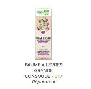 Herbalgem -  BAUME A LEVRES GRANDE CONSOUDE - BIO Gemmothérapie concentré - 30 ml