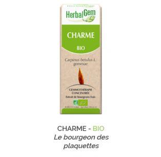 Herbalgem -  CHARME - BIO Le bourgeon des plaquettes Gemmothérapie concentré - 30 ml