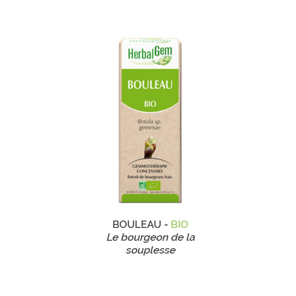 Herbalgem -  BOULEAU - BIO Le bourgeon de la souplesse Gemmothérapie concentré - 30 ml