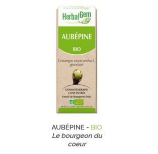 Herbalgem -  AUBÉPINE - BIO Gemmothérapie concentré - 30 ml