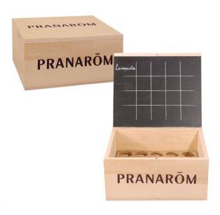 Pranarôm - Mini-Aromathèque 20 Huiles Essentielles - Boite vide en Bois