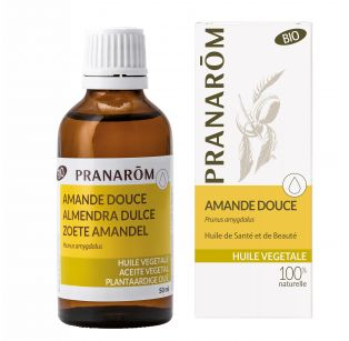 Pranarôm - Huile Végétale Vierge - Amande douce - Prunus amygdalus - 50 ml