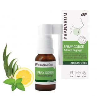 Pranarôm - Aromaforce Spray Gorge et Buccal - Flacon 15 ml