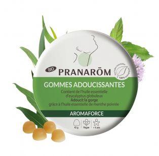 Pranarôm - Aromaforce Gommes adoucissantes - Menthe/Eucalyptus BIO