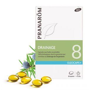 Pranarôm - Oléocaps 8 - Drainage & Détoxination - 30 Capsules
